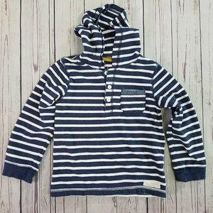 Carter's Boy's Blue Stripe Hoodie Size 7
